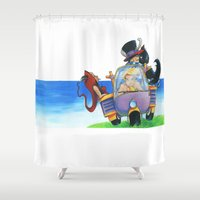 once upon a  time Shower Curtains featuring Once Upon a Time by Massimiliano Feroldi