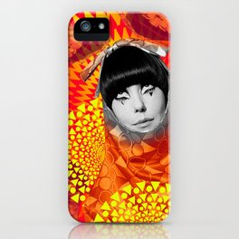 Supermodel Peggy 2 - Supermodels of the Sixties Series iPhone Case