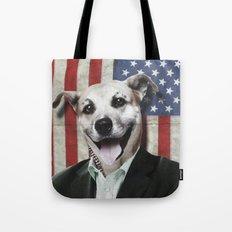 Patriotic Dog | USA Tote Bag