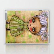 Dandelion Girl in Yellow And Green Laptop & iPad Skin