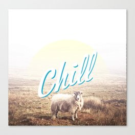 Sheep - chill Canvas Print