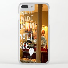 """""""The water splits men the wine joins them"""" Clear iPhone Case"""
