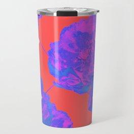 Abstract Geometric Peonies Flowers Design Travel Mug