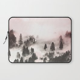 Black and white forest Laptop Sleeve