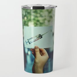 syringe symbol Travel Mug