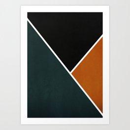 Noir Series - Forest & Orange Art Print