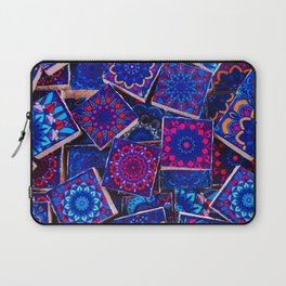 V9 Traditional Special Moroccan Colored Blue Stones - A2 Laptop Sleeve