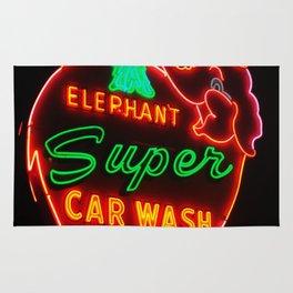 Elephant Super Car Wash Rug