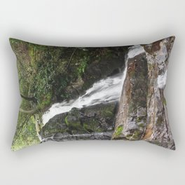 Tennessee Waterfall Smoky Mountains Color Photo Rectangular Pillow