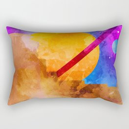 Saturn Crashed Rectangular Pillow