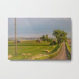 Country Road, North Dakota 22 Metal Print