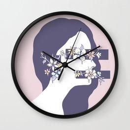 Encumbered Exploration of Existence (Hidden Sensibility) Wall Clock