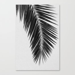 Palm Leaf Black & White I Canvas Print