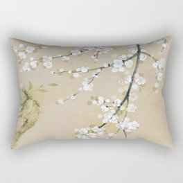 Ume flower painting,korean painting Rectangular Pillow
