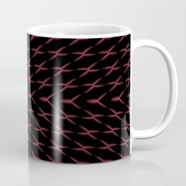 PCT2 Fractal in Red and Black Coffee Mug