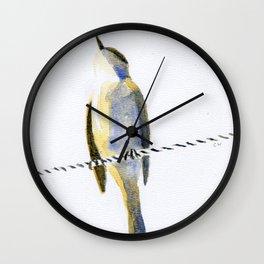 bird on a wire Wall Clock