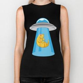 Alien Cat UFO ufology Kitty Flying Saucer Gift Biker Tank