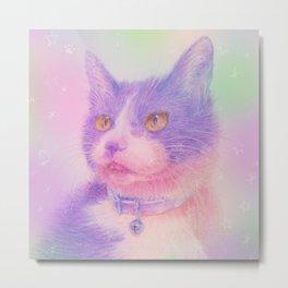 miwa cat1 ~purple~ Metal Print