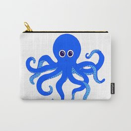 Octopus (Blue) Carry-All Pouch