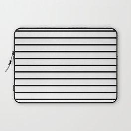 Thin Black Stripe Pattern Laptop Sleeve