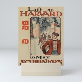 Affiche life at harvard   in may scribners. 1897  Mini Art Print
