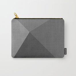Pyramid - Black and White Carry-All Pouch