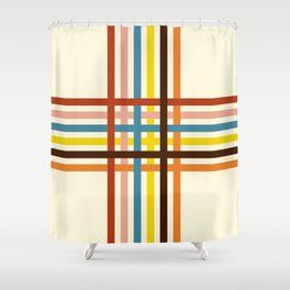 Classic Retro Cerastes Shower Curtain