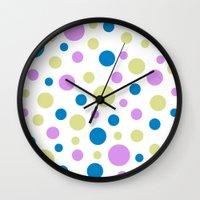 polka dot Wall Clocks featuring Polka Dot by Little Ladybird