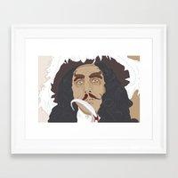 hook Framed Art Prints featuring HOOK by Itxaso Beistegui Illustrations