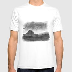 Mt Gould, Tasmania LARGE White Mens Fitted Tee