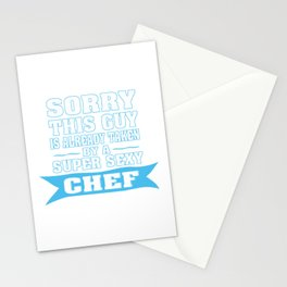 TAKEN BY A SUPER SEXY CHEF Stationery Cards