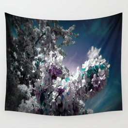 Flowers Purple & Teal Wall Tapestry