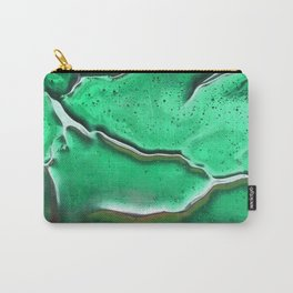 Emerald Crackle Carry-All Pouch