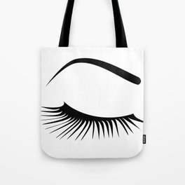 Closed Eyelashes Right Eye Tote Bag