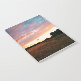 Field Sunset Notebook