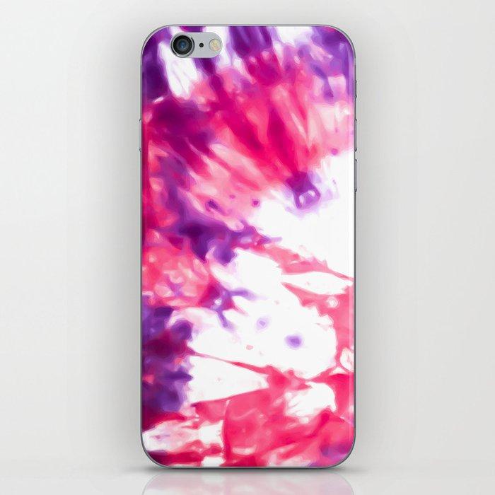 Modern Artsy Abstract Neon Pink Purple Tie Dye iPhone Skin