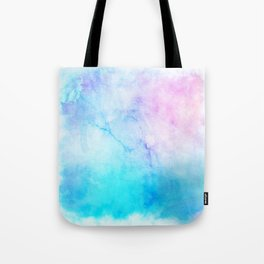 Turquoise Pink Watercolor Texture Tote Bag