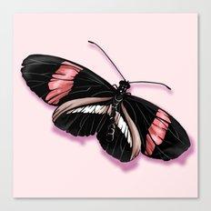Papillon rouge et noir Canvas Print
