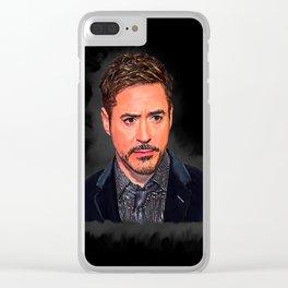 Robert Downey Jr Desain 008 Clear iPhone Case