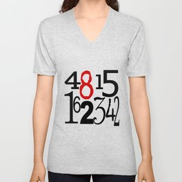 The Numbers in White Unisex V-Neck