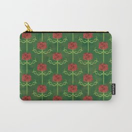 Spring Roses Pattern Carry-All Pouch