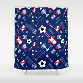 Love Football Background Shower Curtain