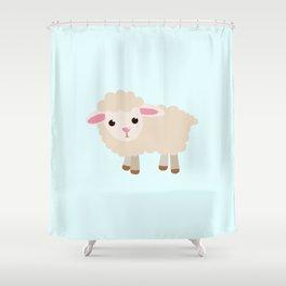 good luck sheep Shower Curtain