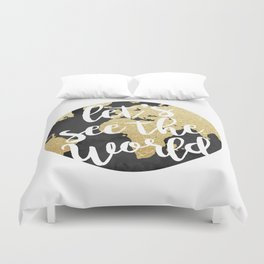 Let's See The World Duvet Cover