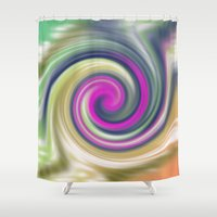 circle Shower Curtains featuring  circle by Karl-Heinz Lüpke