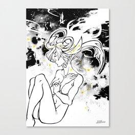 Inktober : Galaxy Canvas Print