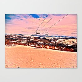 Chilly Sand Canvas Print