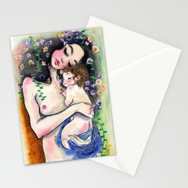 Klimt: Mother and Child 1 Stationery Cards