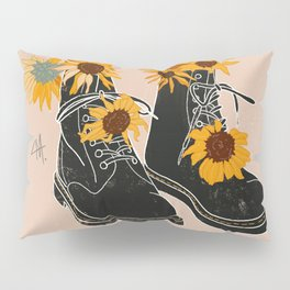 Flower Boots Pillow Sham