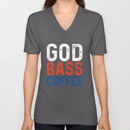 god bass coffee t-shirts Unisex V-Neck